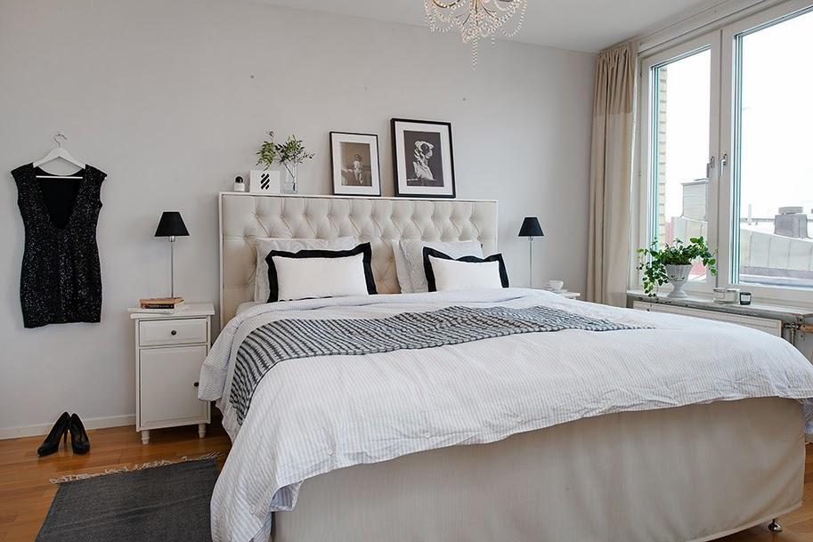 Minimalistyczne mieszkanie w stylu skandynawskim - wystrój wnętrz, wnętrza, urządzanie domu, dekoracje wnętrz, aranżacja wnętrz, inspiracje wnętrz,interior design , dom i wnętrze, aranżacja mieszkania, modne wnętrza, styl skandynawski, scandinavian style, biała wnętrza, minimalizm, sypialnia