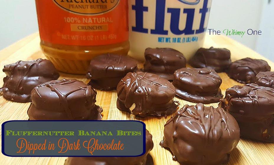 Chocolate Covered FlufferNutter Banana Bites | The Whimsy One