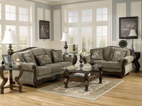 ashley traditional furniture north shore living room set