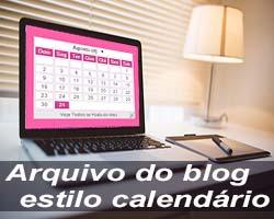 Arquivo do blog estilo calendário