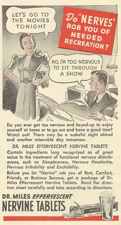 Old Ads Are Funny: 1940 ad: Don't let your nerves rob you of