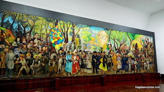 Diego Rivera - mural Sonho de uma tarde dominical na Alameda Central, obra de Diego Rivera exposta no Museu Mural de Diego Rivera, na Cidade do México