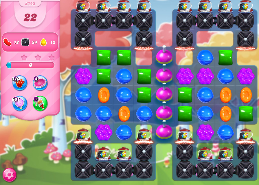 Candy Crush Saga level 3142