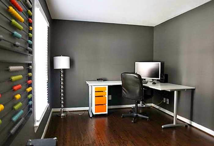 Best wall paint colors for office Home office design color ideas