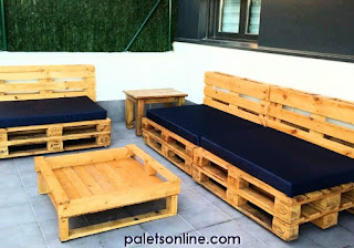terraza europalet homologado reciclado y colchoneta azul Paletsonline.com