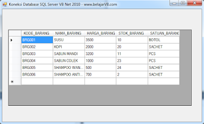 Cara Koneksi Database SQL Server VB .Net 2010 - Tempat Belajar VB Net