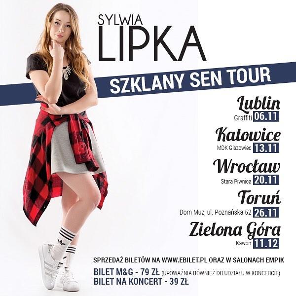 Trasa koncertowa Sylwii Lipki!