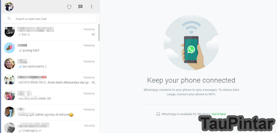 Membuka WhatsApp di Google Chrome