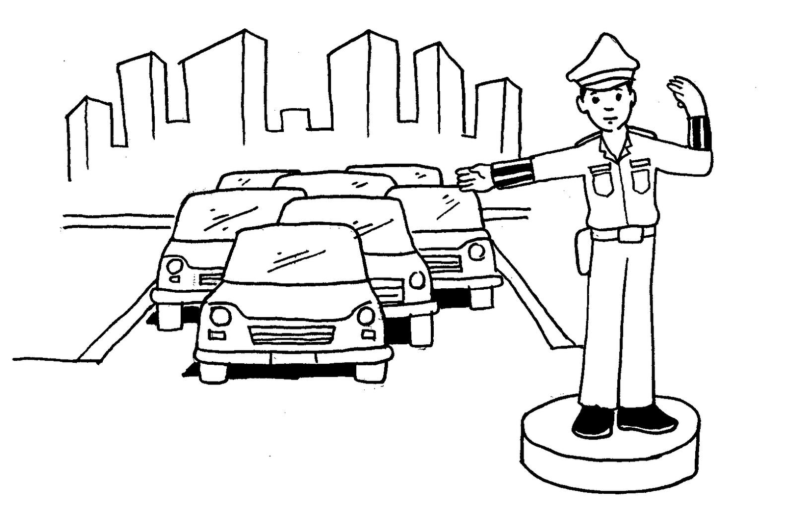 Gambar Karikatur Polisi Wanita | Bestkartun