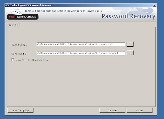 togliere la password da un file pdf