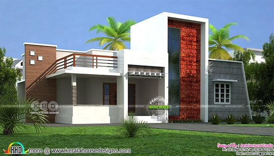 Laterite stone show wall on front elevation