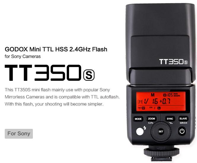 Вспышка Godox TT350s для камер Sony