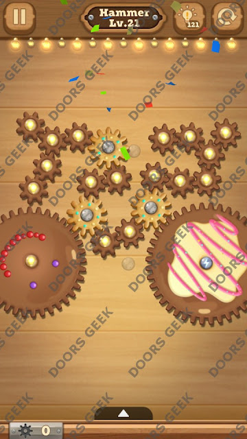 Fix it: Gear Puzzle [Hammer] Level 21 Solution, Cheats, Walkthrough for Android, iPhone, iPad and iPod