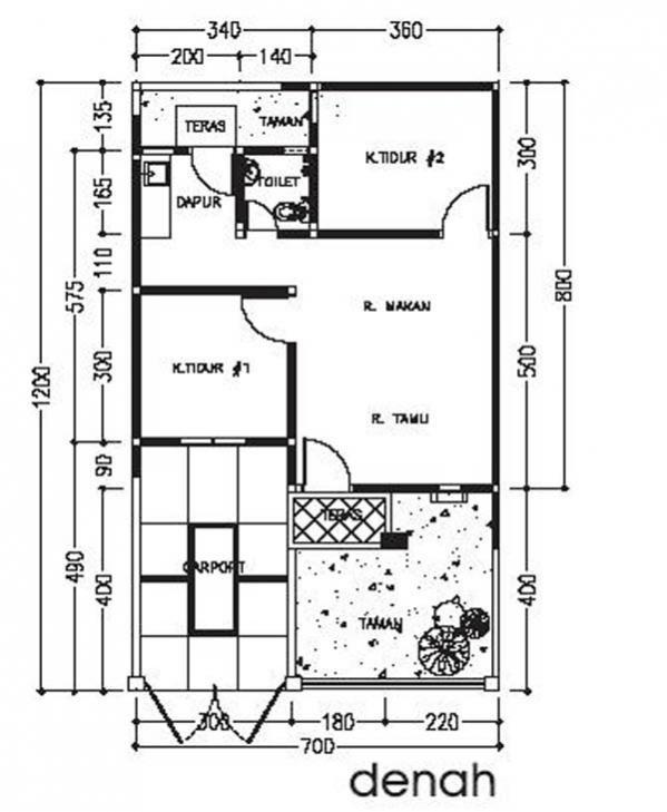 gambar denah rumah type 80 4 4