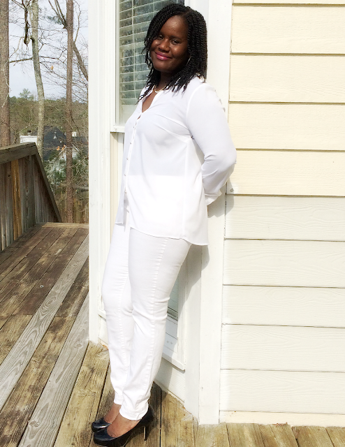 how to rock an all white outfit during the winter
