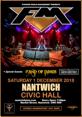 FM at Nantwich Civic Hall - 1 Dec 2018 - poster