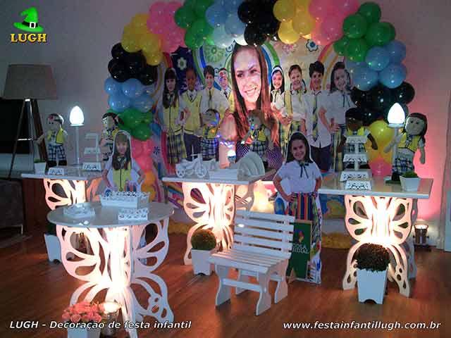 Decoração mesa de aniversário provençal - Festa feminina tema Carrocel