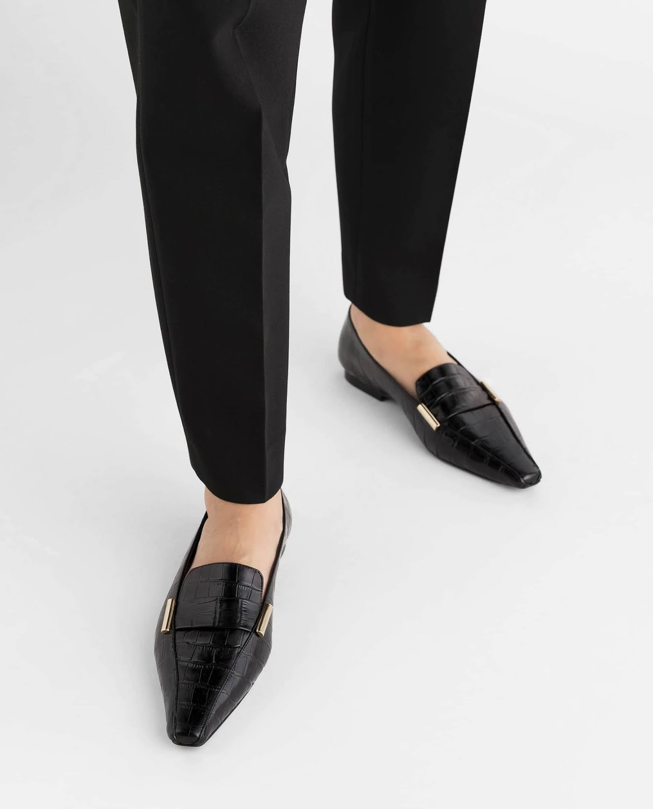 dolly leather croco loafers