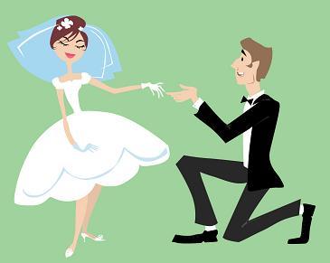 صور عروسه وعريس كرتون