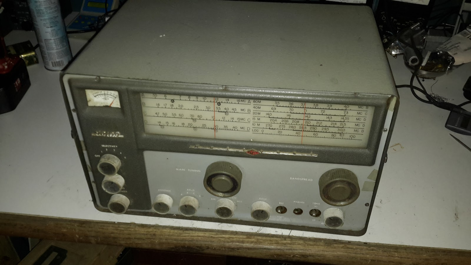 Steves Eclectic Radio Blog 2016 Amplifier Described Here Uses Two Small Amplifiers Like Lm380 Mounted I Need Another Old Sw Receiver Hole In My Head But Felt Sorry For This Nc 109 When It Came Up At An Auction Attended Last