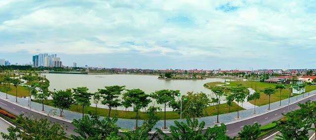 Hồ điều hòa khu đô thị thành phố giao lưu