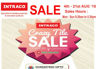 Intraco Warehouse In-Store Roadshow & Crazy Tile Sale