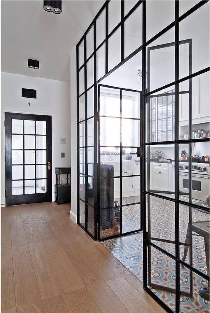 pareti di vetro e metallo per dividere gli ambienti blog