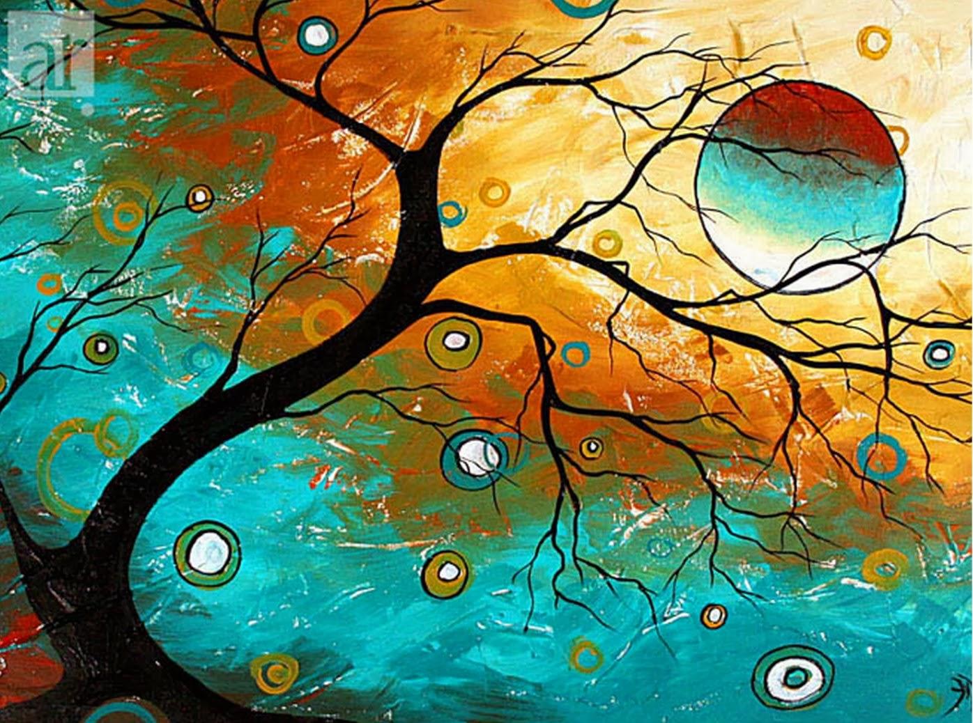 Cuadros modernos pinturas y dibujos cuadros modernos abstractos de paisajes aroon duncanson - Ideas para pintar cuadros ...