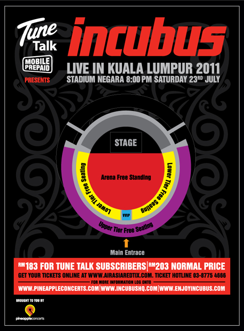 Malaysia Incubus Live