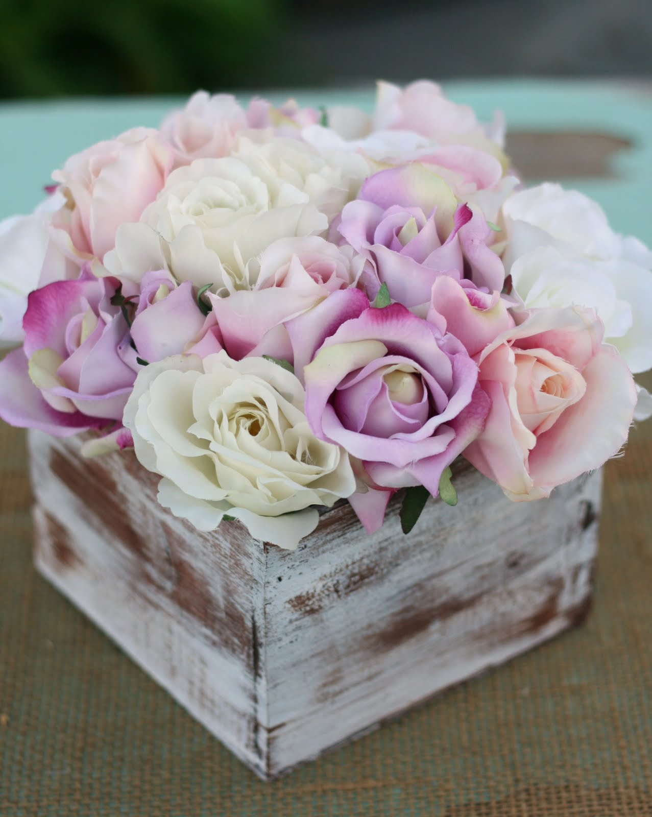 Morgann Hill Designs Shabby Chic Rustic Flower Bouquet Wedding Centerpiece Arrangement