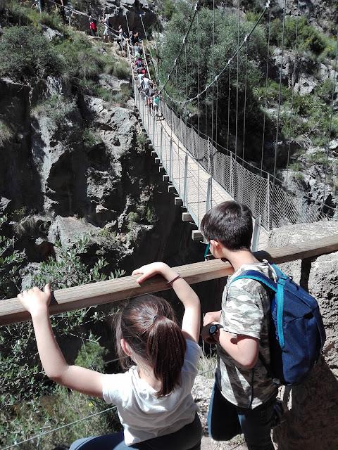 excursión niños Chulilla