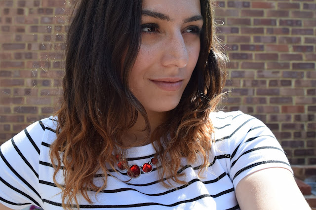 What Cat Says - What Cat Wore | Red Florals & Striped Tees