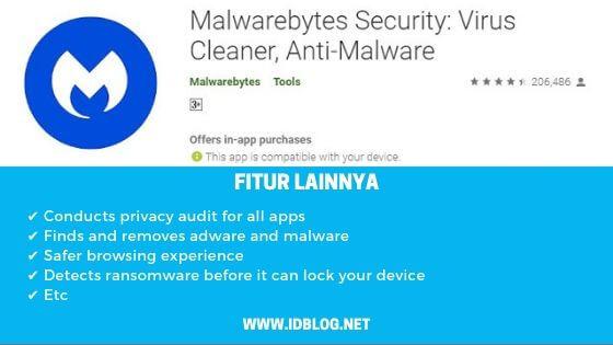 aplikasi antivirus android Malwarebytes Security