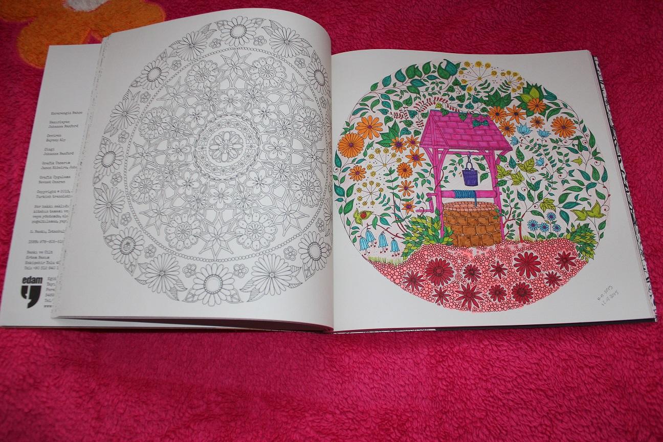 Esintiler Ve Anlar Esrarengiz Bahçe Büyükler Icin Boyama Kitabı8