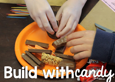 Have students use candy and toothpicks to build a tower with leftover Halloween candy.