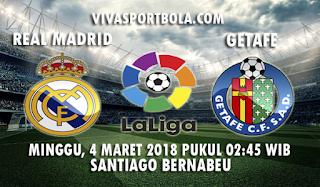 Prediksi Real Madrid vs Getafe 4 Maret 2018