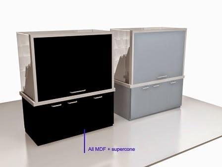 Desain 3d Etalase cuonter HP - KiosK - Full Branding 02