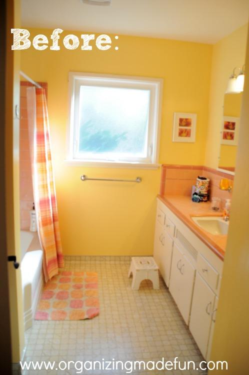 Our Kids 39 Bathroom Makeover Reglazing Results Organizing Made Fun Our Kids 39 Bathroom