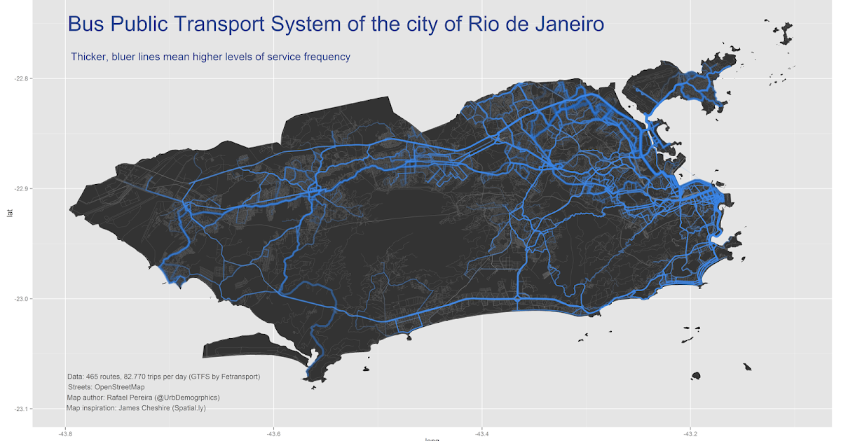 Urban Demographics: Mapping the Transit System of Rio with