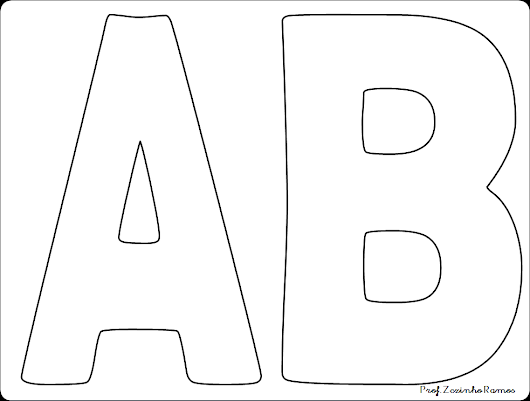 Letras Goticas Para Imprimir: MOLDE DE LETRAS GRANDES
