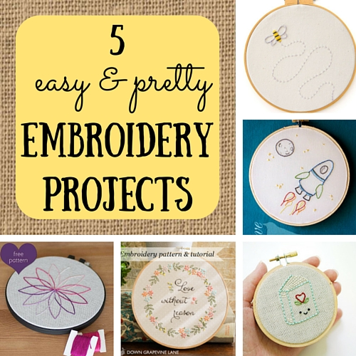 easy embroidery projects