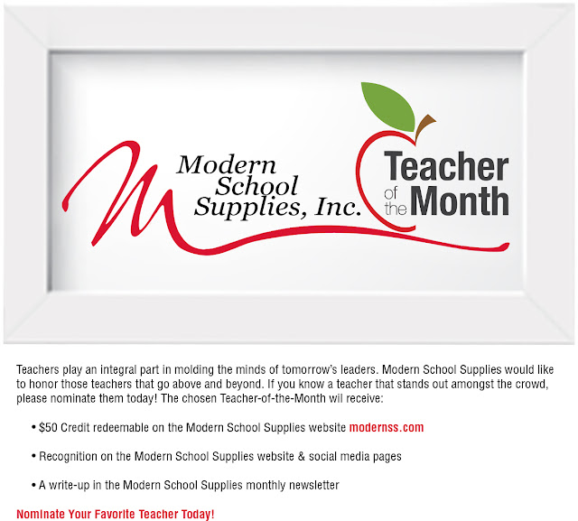 Modern's Teacher-of-the-Month Survey
