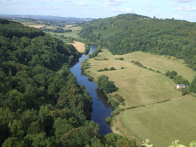 Stunning view at Symonds Yat Rock Forest of Dean