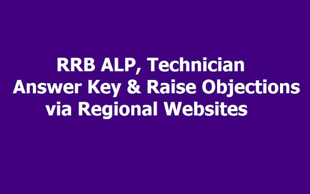 RRB ALP, Technician Answer Key