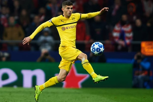 Chelsea sign US footballer Christian Pulisic from Borussia Dortmund for £58m