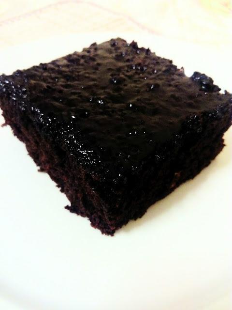Chocolate frosting brownie