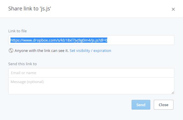 Sử dụng Dropbox để host file Js và Css cho website/blog