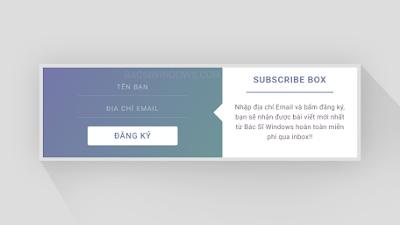Tạo Popup đăng ký nhận bài viết qua Email tuyệt đẹp cho Blogspot