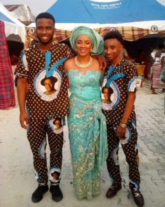 Ibinabo Fiberesima & Her Sons At The Installation of Her Dad As Chief In Okrika