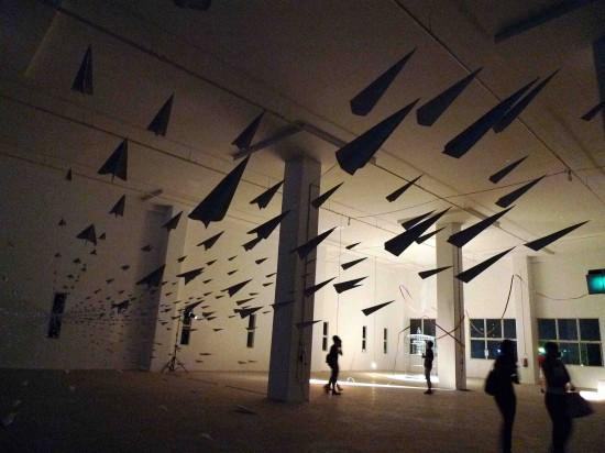 aviones de papel.